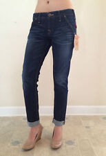 True Religion Jeans BRIANNA WORKWEAR BOYFRIEND Sad Griddiron Size 25 NEW