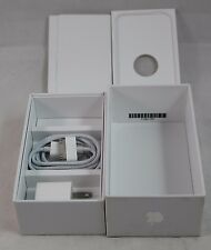 Apple IPhone 4 Box, NEW Power Plug & Cable, White Box, instructions, inserts