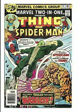 MARVEL TWO IN ONE # 17 (THE THING & SPIDER-MAN, CENTS, JULY 1976), FN+