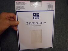 GIVENCHY BODY GLEAMERS SHIMMERY ULTRA SHEER CONTROL TOP PANTYHOSE IVORY SIZE A