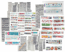 LOT of (100) Reminisce RUB-ON SHEETS scrapbooking MANY THEMES & FONTS!