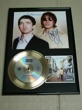 Oasis Signed Liam No Whats The Story CD Gold Disc Frame