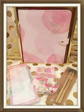kikki K LARGE (A5) Pink-Lavender Leather Planner |COMPLETE, with EXTRAS | NEW!