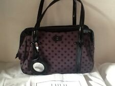 Lulu guiness Franka Medium Shoulder Bag -Polka Dots Grey