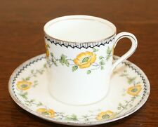 Antique Early 20th Century Demi Tasse - Aynsley - Yellow Buttercup Design