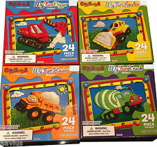 Lot of 4 Children Kids My Fun Construction Truck Digger Loader Jigsaw Puzzle Toy