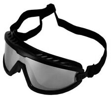 Tactical Saftey Goggles Black & Silver Mirrored