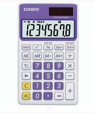 Casio 8 Digit Solar Plus Battery Calculator Auto Off Purple for Pocket or Purse