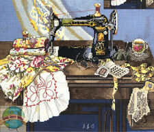 Cross Stitch Kit ~ Candamar Antique Vintage Sewing Machine Quilt #51265