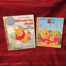 2 Winnie-The-Pooh a Little Golden Books Happy Easter Walt Disney The Honey Tree