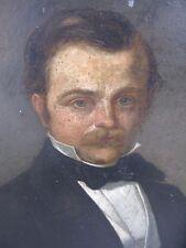 Stähelin Johann Ullrich St. Gallen 1802 Gemälde Portrait Mann mit Schnauzer 1860