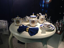 EXCLUSIVE Russian Imperial Lomonosov Porcelain Tea set Golden Eagle / State Arms
