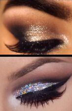Holographic CHAMPAGNE + SILVER Glitter Eyes + Fix Gel Long, Lasting Eye Shadow