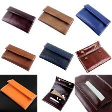 Genuine Leather Wallet Hookah Cigarette Tobacco Pouch Case Rolling Paper Holder
