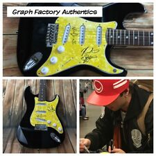 GFA Keaton Wesley & Drew * EMBLEM3 * Signed Electric Guitar PROOF COA