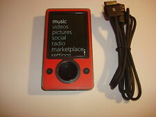 MICROSOFT  ZUNE  RED/BLACK  CUStOM  128GB  SSD...NEW  BATTERY...