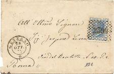 P8169   Roma, Genzano, annullo numerale a punti + DC, 1874