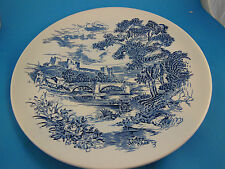 "Wedgwood Dinner Plate Countryside Blue & White 10"" England"