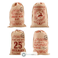 Giant Hessian Xmas Christmas Present Kids Santa Sack Stocking Bag