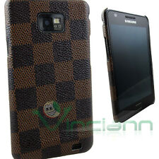 Custodia back cover CHESS per Samsung Galaxy S2 SII i9100 rigida elegante brown