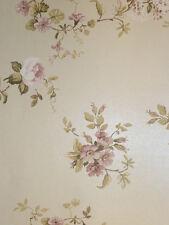 arôme Papier Peint Polaire 620-3 Floral Fleurs beige rose Maison de campagne