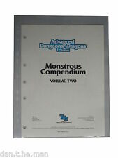 10x A4 AD&D ADVANCED DUNGEONS & DRAGHI MONSTROUS COMPENDIO CONSERVAZIONE MANICHE