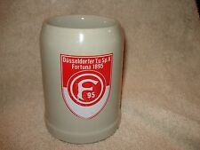 "Fortuna Düsseldorf 1895 German Soccer Club Beer Stein Pottery W M Mark 5"" x 3"""