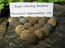 Old Rare Vintage Antique Civil War Relic 1 Eagle Ifantry Button Appomattox Camp