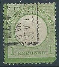 1872 GERMANIA USATO REICH IMPERO AQUILA GRANDE SCUDO 1 K - G2