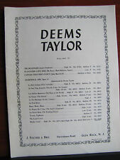 Mayday Carol by Deems Taylor - piano, vocal 1954 sheet music