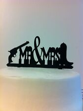 Western Pistol Boot MR & MRS Wedding Cake Topper MADE In USA…..Ships from USA