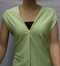 LIME GREEN POLY/COTTON FACE  FRENCH TERRY FABRIC: 180CM WIDE :  $6.50 p/m.