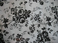 3 Full Rolls Black & White Rose Antique Shelf Liner Paper Crafts Contact Toile