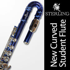 STERLING BLUE and SILVER Curved Head FLUTE • With Straight AND Curved Headjoints