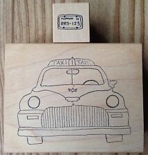 Lot of 2 Rosie's Roadshow Rubber Stamps Taxi Cab Car License Plate