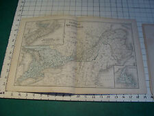 Vintage Original 1866 Mitchell Map: CANADA  map # 4 aprox 12 x 19""