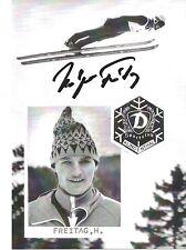 Autogramm Holger Freitag Vater von Richard Skisprung Skispringer DDR handsign.