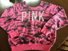 NWT Victoria's Secret PINK Slouchy Over-the-Shoulder Camo Sweatshirt SMALL