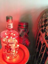 ~NEW~ *Bling Lights* CAPTAIN MORGAN Spiced Rum Empty LIQUOR BOTTLE Lamp Red LEDs