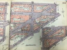 1929 CROWN HEIGHTS OCEAN HILL BROWNSVILLE ST MARY'S HOSP BROOKLYN NY ATLAS MAP