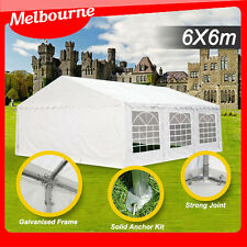*VIC PICKUP* Galvanised pole Commercial Grade Heavy Duty gazebo marquee 6x6M