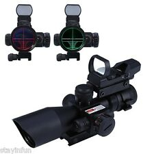 2.5-10X40 Tactical Riflescope Red/Green Laser Dual Illuminated Scope Mil-dot New