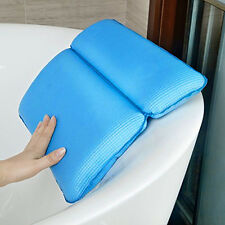 Bath Spa Pillow Nonslip Cushion Shoulder Neck Support Bathtub with Suction Cups