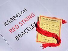 200 RED STRING BRACELET & BEN PORAT PRAYER  KABBALAH STRINGS  100% WOOL