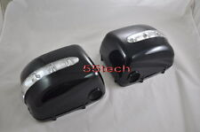 Mercedes G Class W463 G500 G55 WAGON Side Mirror Covers LED Blinker signal Black