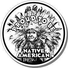 """PROUD TO BE NATIVE AMERICAN"" STICKER for CAR,TRUCK,WALL,TOOLBOX, INDIAN,TRIBAL"