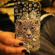 New Bling Leopard head Crystal Finished HARD Case cover for APPLE iPhone 4 4S YF