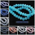 100pcs Glass Crystal Faceted Rondelle Findings Loose Spacer Beads 6mm 67 Colors