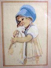 Jan Hagara Crewel Embroidery Craft Kit Betsy Girl & Doll Needle Treasures 1979