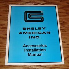 1965 Ford Mustang Shelby Accessories Installation Manual 65